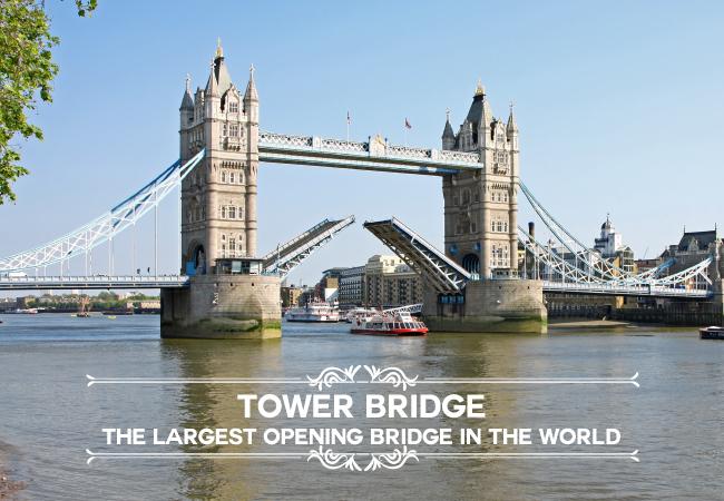 Tower Bridge: The largest opening bridge in the world