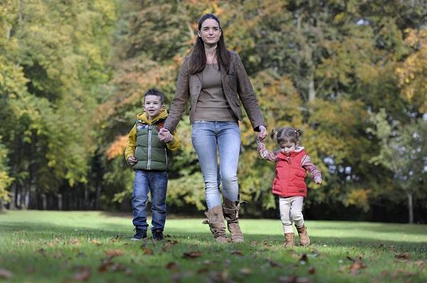 http://www.dreamstime.com/royalty-free-stock-image-mother-children-walking-park-autumn-image34694546