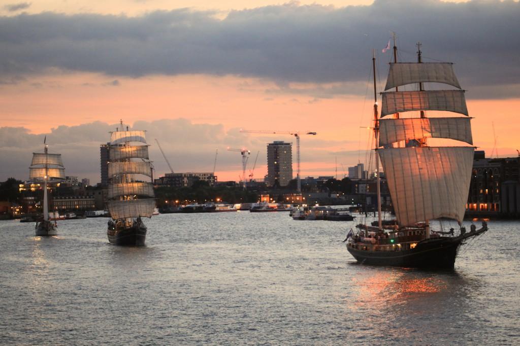 3 Tall ships at Wapping 2013
