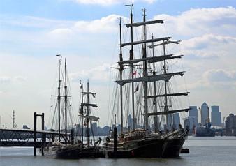 Tall Ships cruise in London