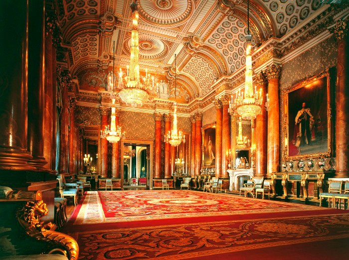 The incredible interior of Buckingham Palace