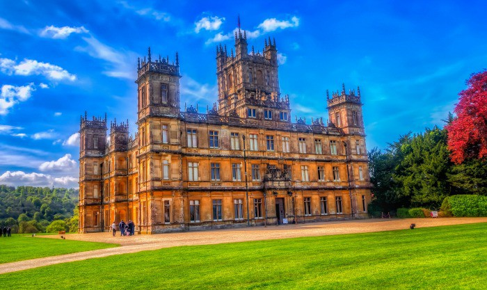 Downton Abbey otherwise known as Highclere Castle