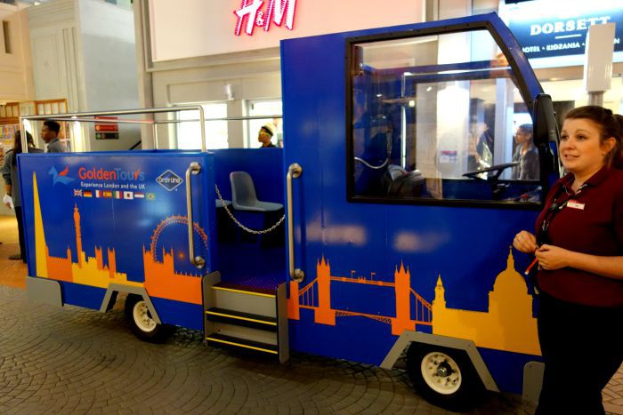 Golden Tours' Bus at KidZania London