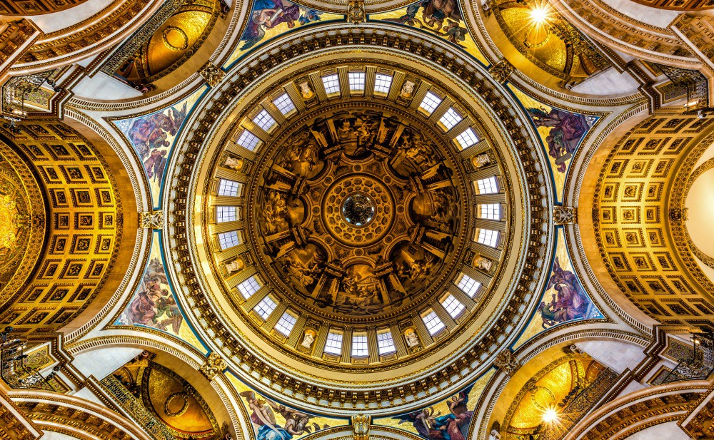 The intricate roof of St Paul's