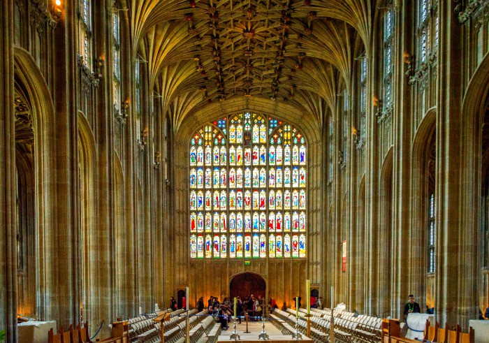 A beautiful chapel in Windsor Castle