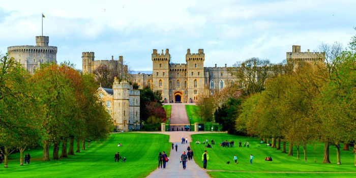 The beautiful Windsor Castle