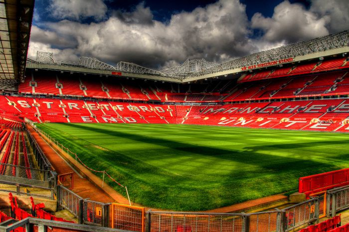 Old Trafford, home to Manchester United