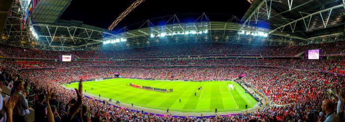Wembley Stadium is the biggest UK stadium
