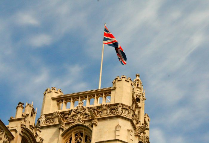 The Royal Standard flies when the Queen is at home