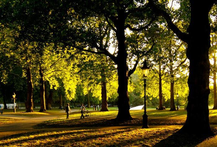 cycling Green Park