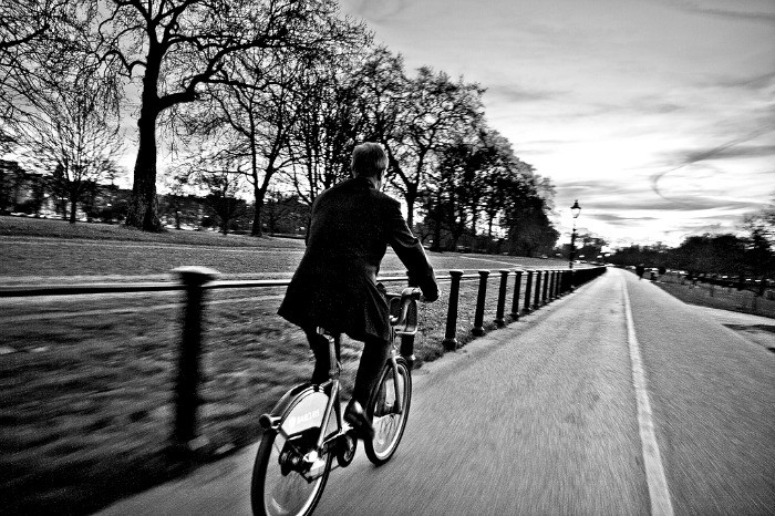 cycling Hyde Park