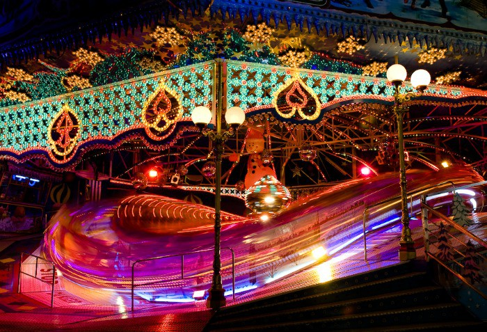 The amazing fairground rides at Winter Wonderland in Hyde Park
