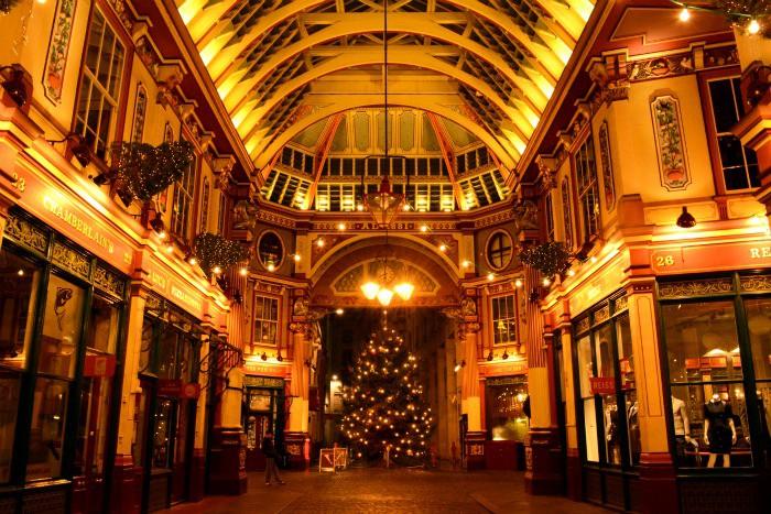 A festive Leadenhall Market