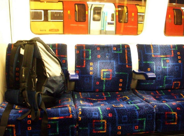 Unattended Bag on the Tube is a No-no