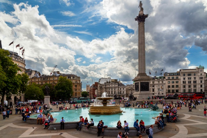 Trafalgar Square near Charing Cross Station on the Northern Line