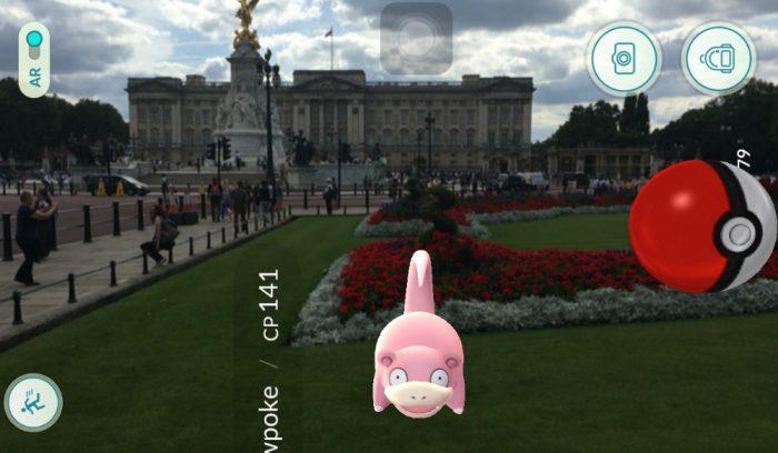 Slowpoke at Buckingham Palace