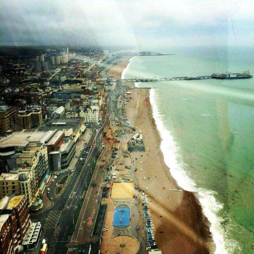 Views from Brighton i360