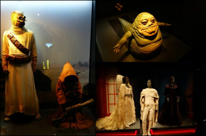 A selection of models and costumes
