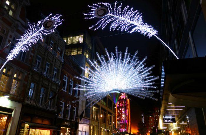 Christmas display on Bond Street