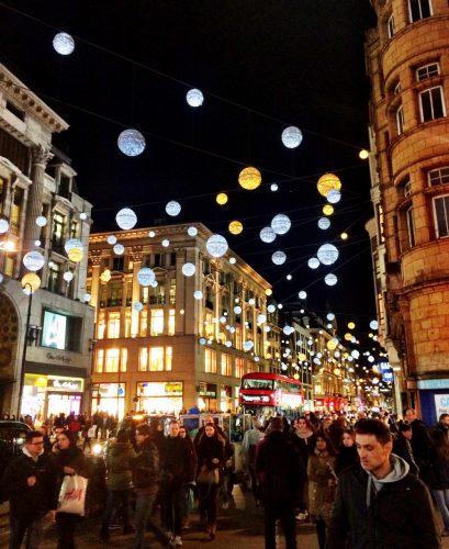 Festive Lights in Oxford Street, London