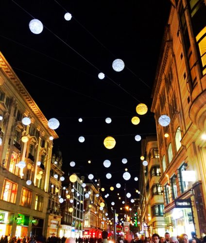 Oxford Street Lights at Christmas Time