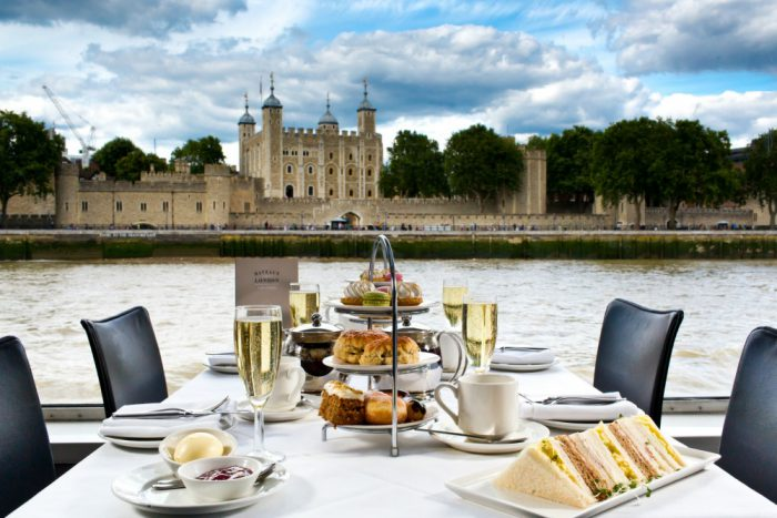 A romantic afternoon tea cruise on the Thames