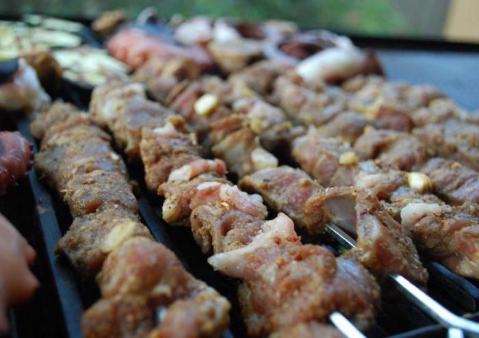 Lamb and cumin kebabs