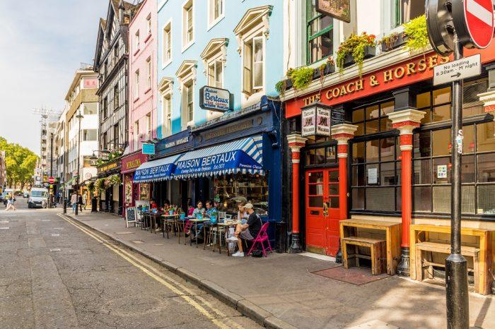 Greek Street in Soho, Shutterstock