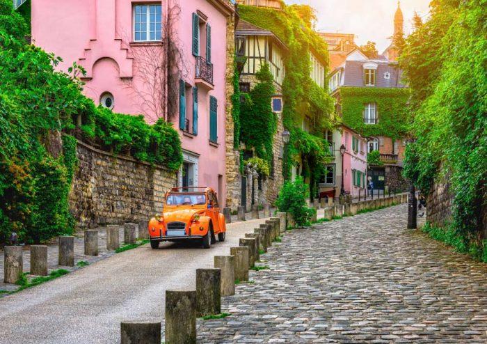 Cobbled streets of Montmartre Paris