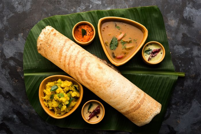 An Indian masala dosa