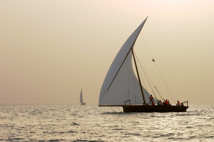 A Dhow boat