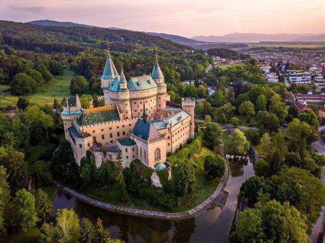 Bojnice Castle, the village of Bojnice, Slovakia