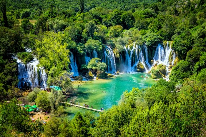 The stunning Kravica Falls in Bosnia
