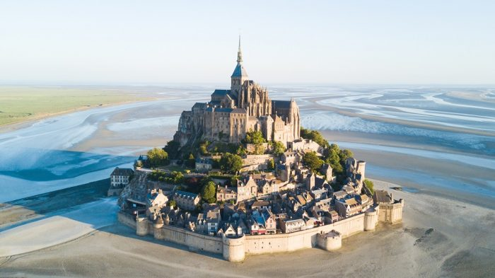 The stunning Mont St Michel in Normandy, France