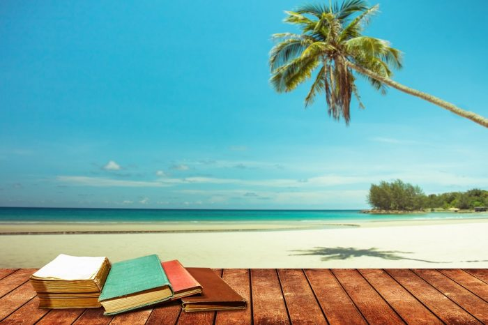 Reading on a desert island