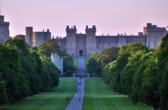 'The Long Walk' approaching Windsor Castle, Windsor