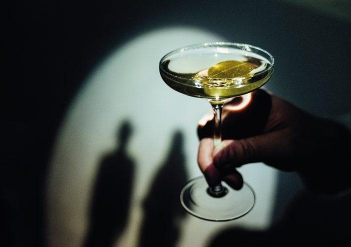 Signature Caper Dirty Martini