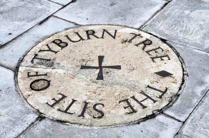 The plaque to the Tyburn Tree